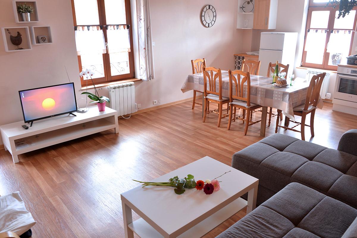 Cuisine Séparée Du Salon photos des 3 appartements des perles de vignes à kaysersberg