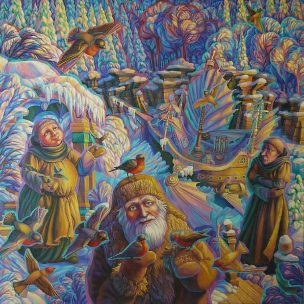 Августин и брат Бонифаций в гостях у старичка-лесовичка |Augustine and brother Boniface was the guest of an old man