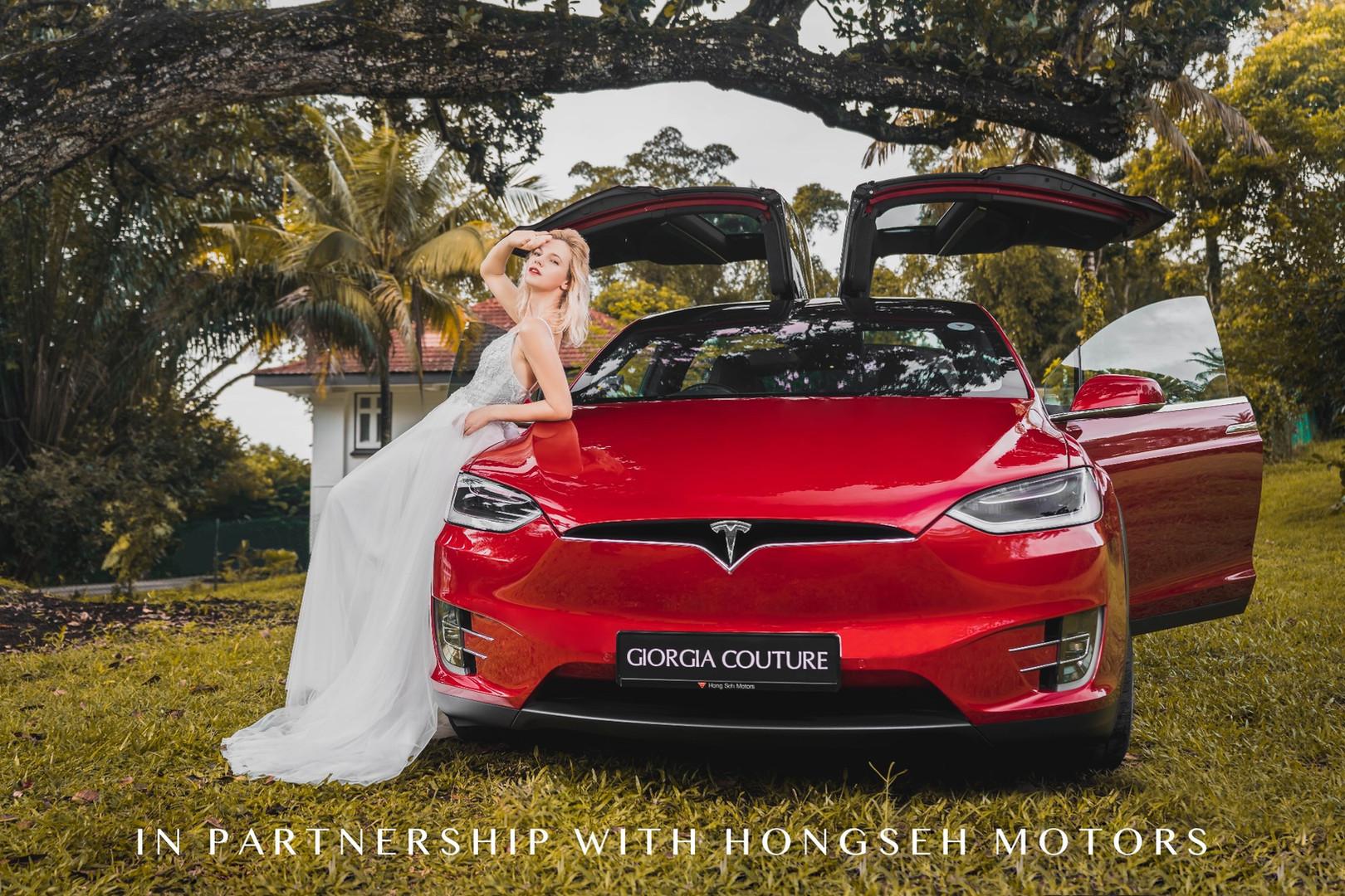 Tesla Wedding Car