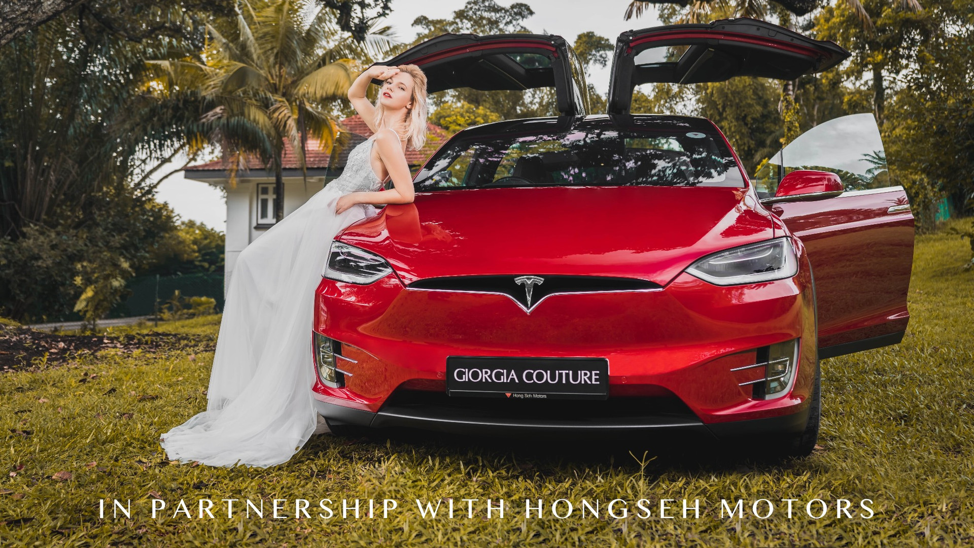 Tesla Wedding Car
