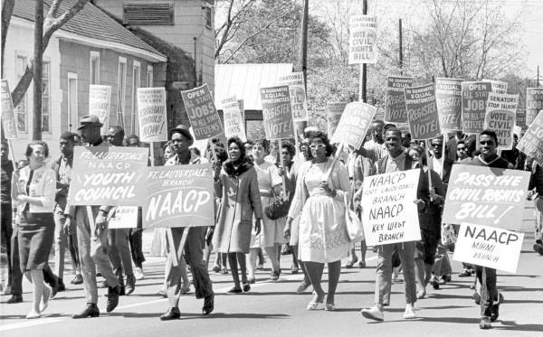 The 1960's - a time of mass demonstrations for civil rights