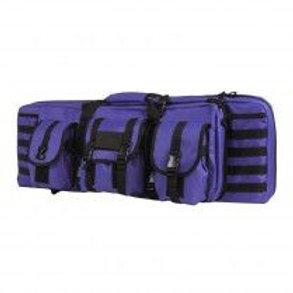 VISM® by NcSTAR® DOUBLE CARBINE CASE/BLACK WITH PURPLE TRIM/36 IN