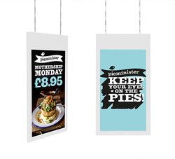 Hanging double-sided display
