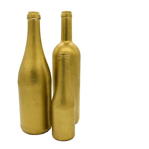 Dekoflaschen, gold