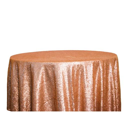 Pailletten Tischdecke roségold