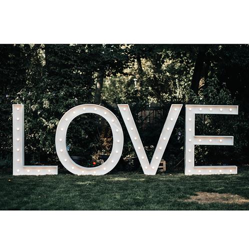 XXL Letter Lights LOVE