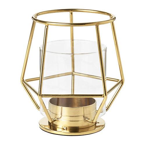 Teelichthalter gold