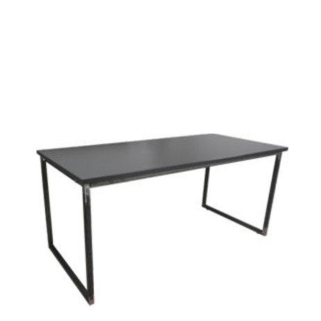 """Sitztisch """"Industry"""", Platte anthrazit 80x160 cm"""