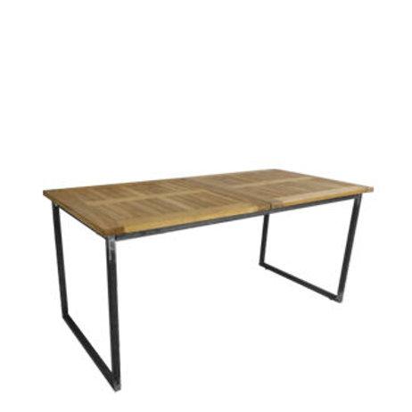 """Sitztisch """"Industry"""", Platte Teak 80x160 cm"""