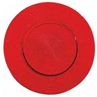 """Platzteller aus Glas """"Red"""""""