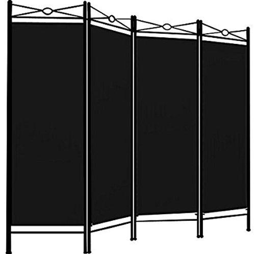 Paravent 4tlg, schwarz