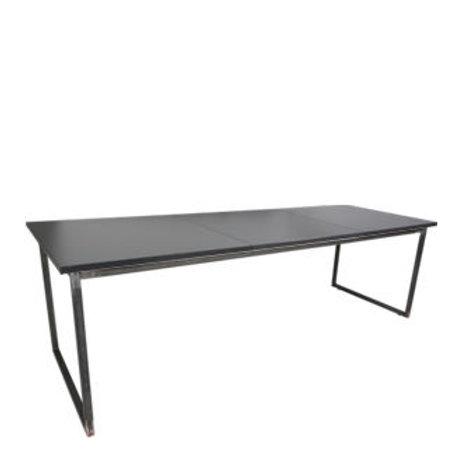 """Sitztisch """"Industry"""", Platte anthrazit 80x240 cm"""