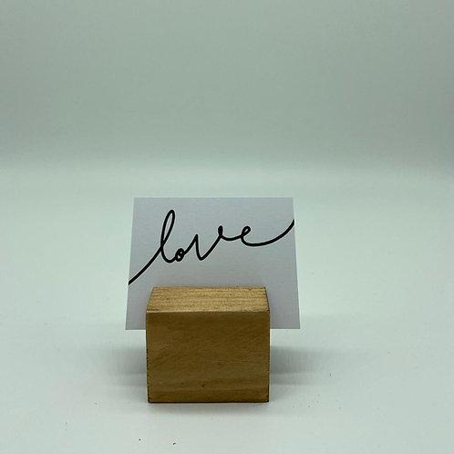 Kartenhalter eckig, Holz
