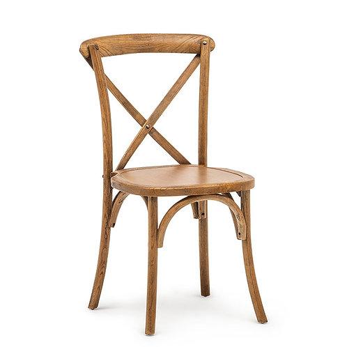 """Stuhl """"Crossback"""" aus Holz inkl. Sitzkissen"""