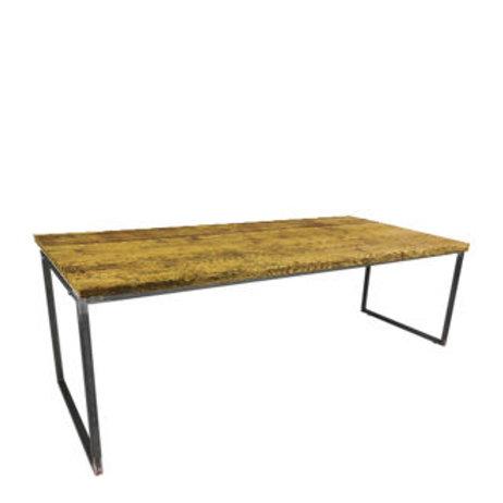 """Sitztisch """"Industry"""", Platte Vintage 80x240 cm"""