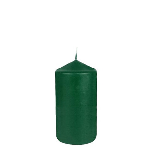 Stumpenkerze dunkelgrün