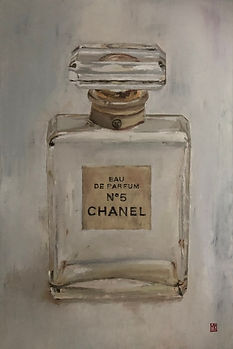 Martin Allen Vintage Chanel Bottle wall