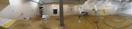 panorama view of exhibition