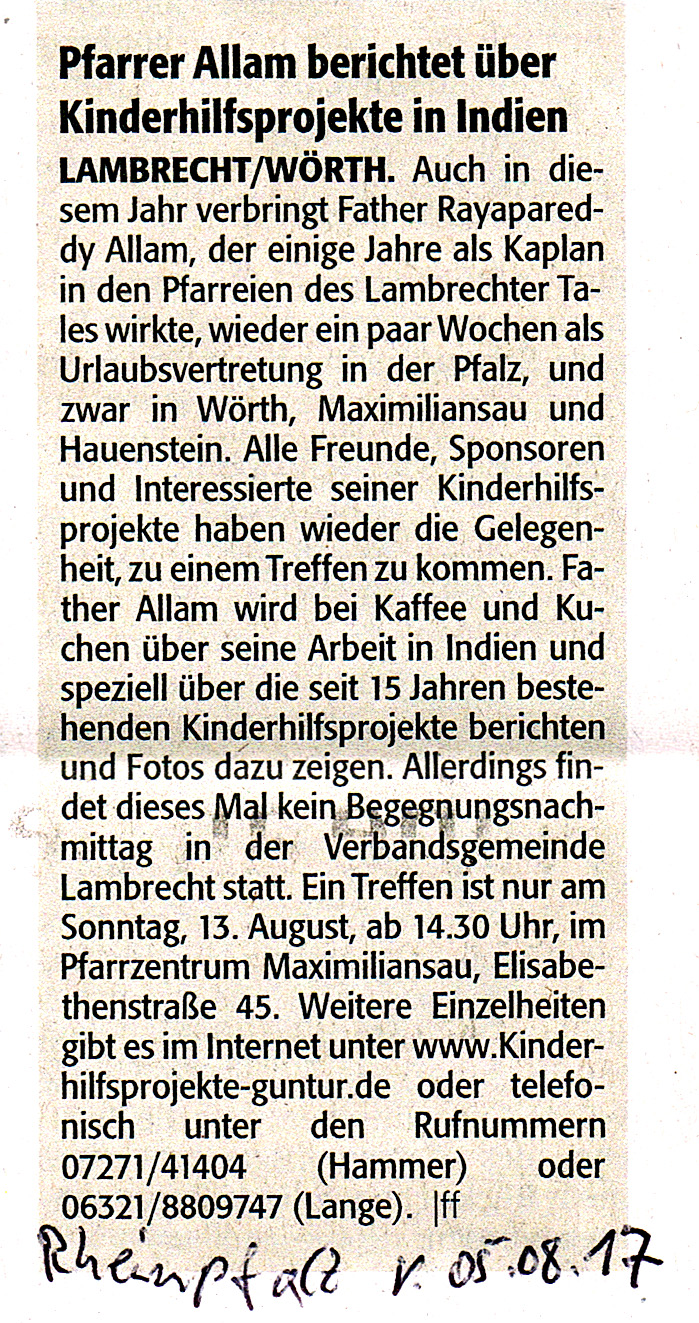 2017.08.05. Mitt.über Treffen i.d. Rheinpfalz