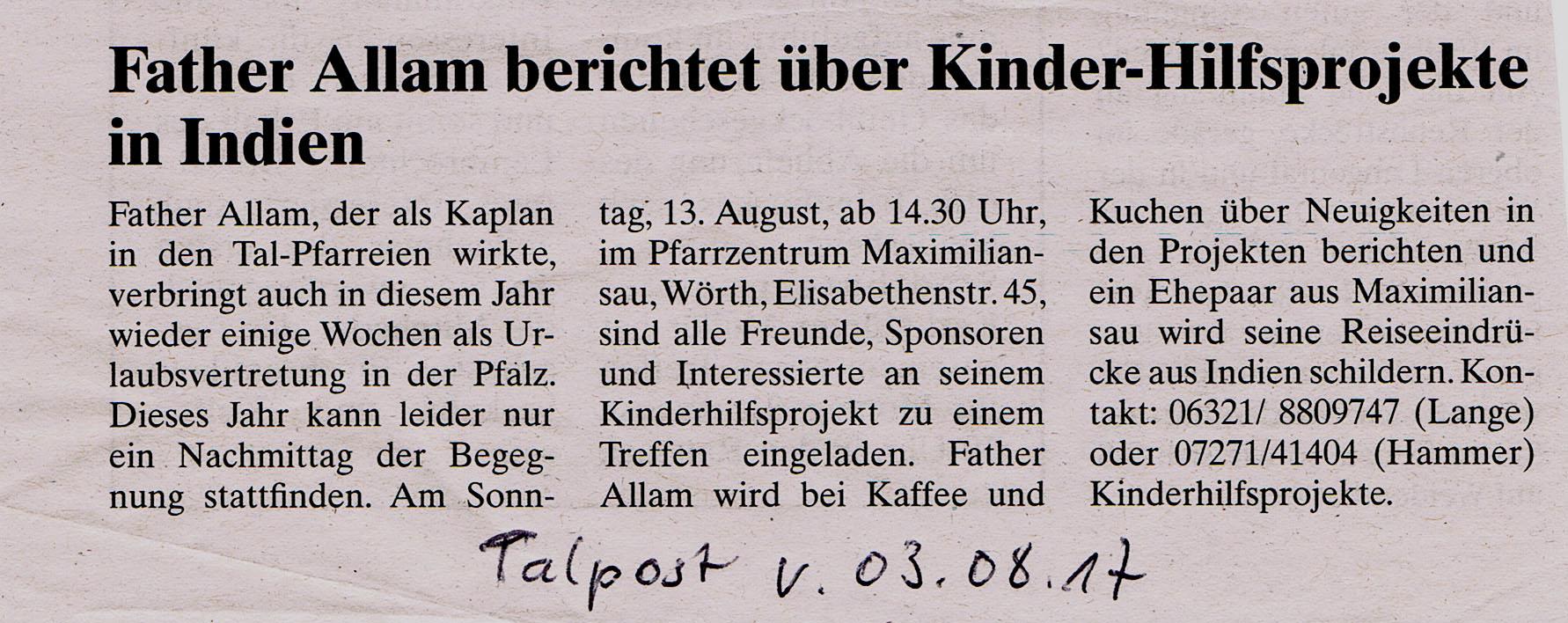 2017.08.03. Talpost:Treffen in Wörth