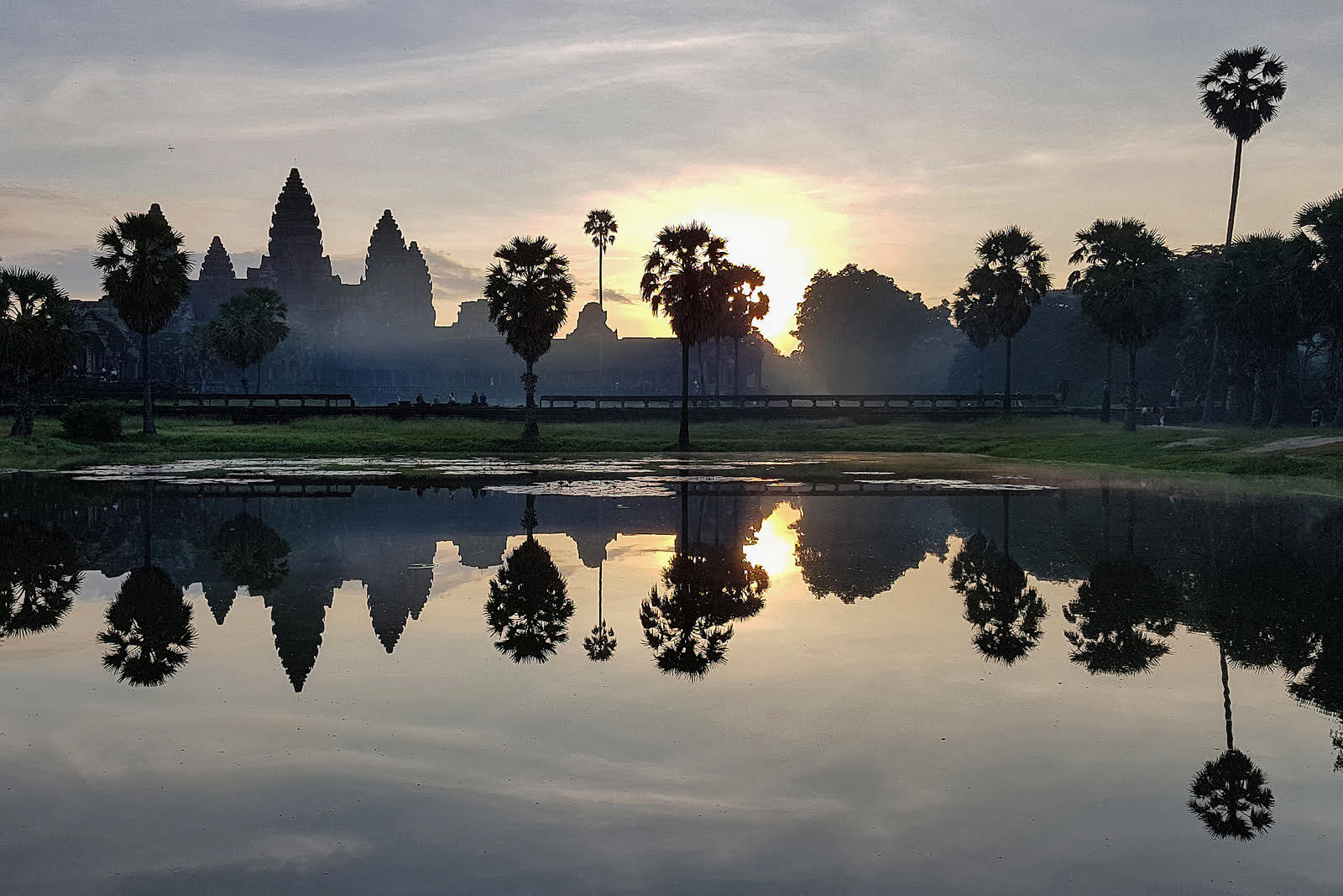COLOUR - Sunset over Ankor Wat by Philip McKenna (5 marks)