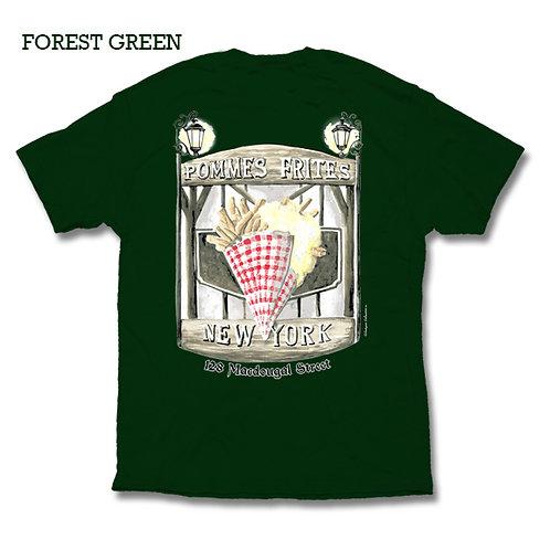 Pommes Frites T Shirt - Forest Green
