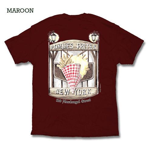 Pommes Frites T Shirt - Maroon