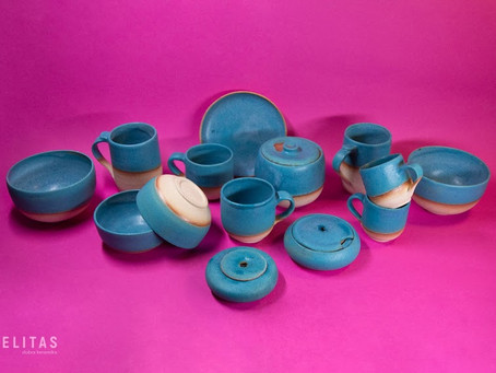 Turquoise pottery