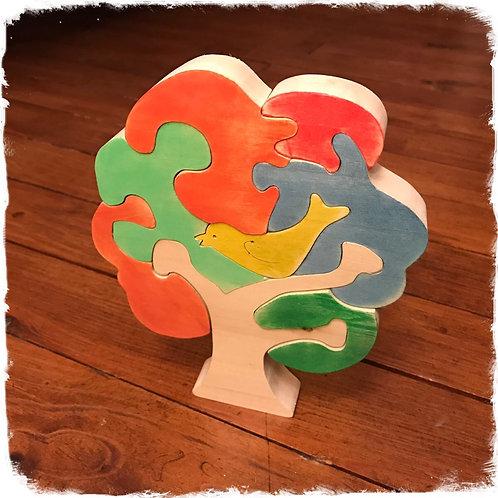 Puzzle oiseau dans l'arbre