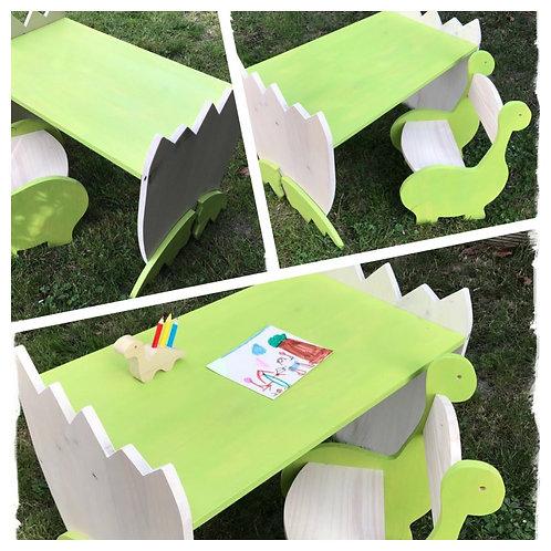 ensemble chaise bureau dinosaure