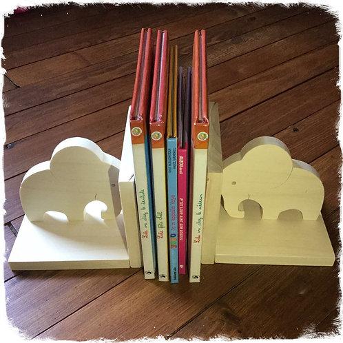 Serre livres éléphants