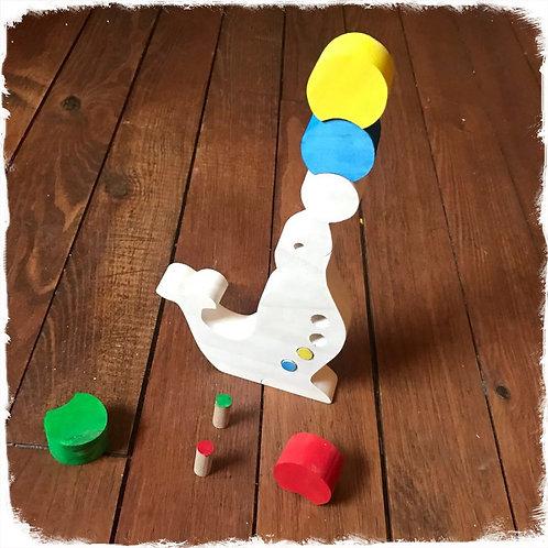 jouet à empiler otarie et ses ballons