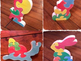 puzzles colorés