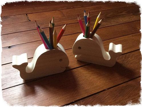 pots à crayons baleine