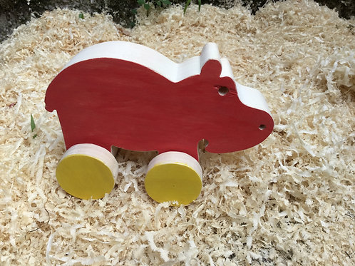 Hippopotame à roulette