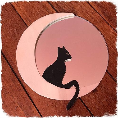 Miroir chat sur lune