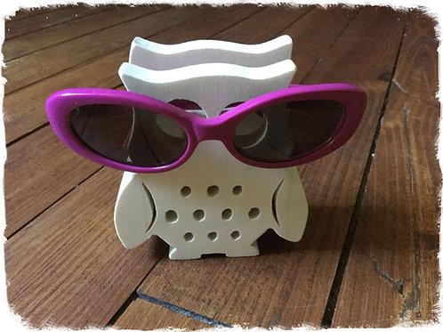 support pour lunettes chouette