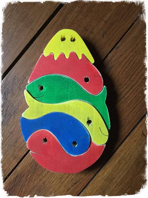 Un œuf de poissons