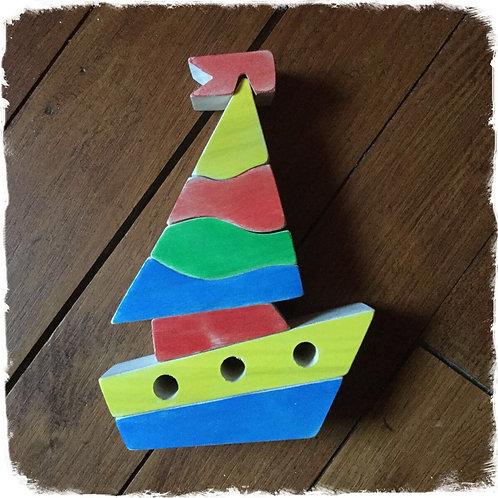 Puzzle empilable bateau