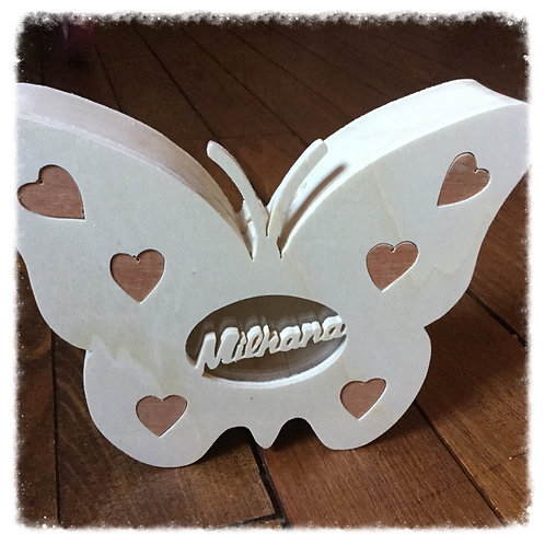 tirelire papillon coeurs