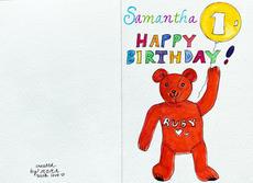 SAMANTHA'S BIRTHDAY CARD