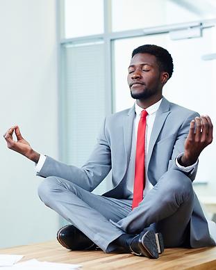 be well - virtual wellness - man on desk