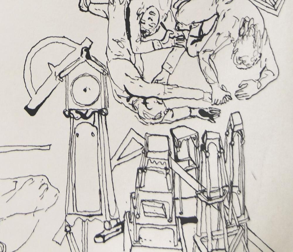 Alderdom – Tilbakeblikk og minner To be old - Memories  Livet – The Life - detaljeblekk / ink - 30x30 cm - 1987 © Halvard Hatlen / BONO