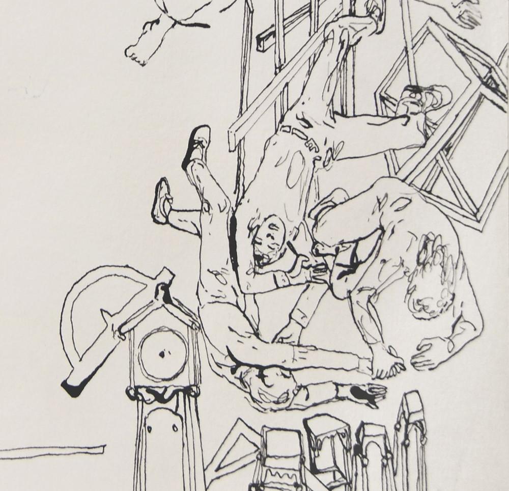 Voksen Adult  Livet – The Life - detaljeblekk / ink - 30x30 cm - 1987 © Halvard Hatlen / BONO