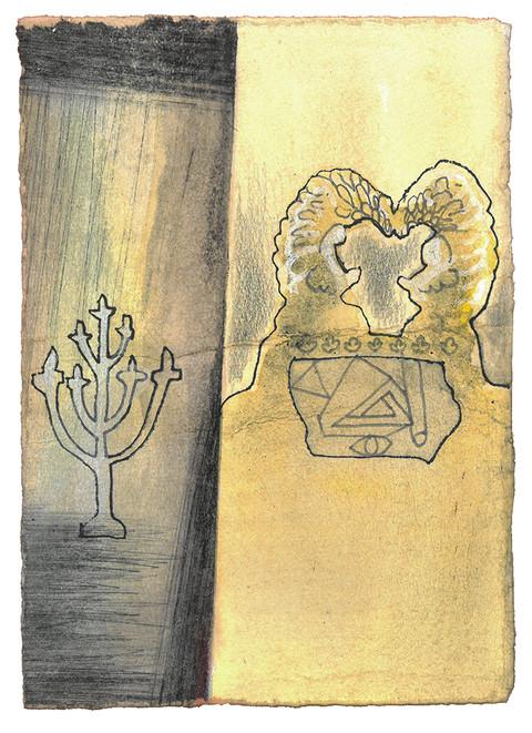 Forhenget skal sette et skille mellom Det hellige og Det aller helligste.  - Andre Mosebok Kapittel 26