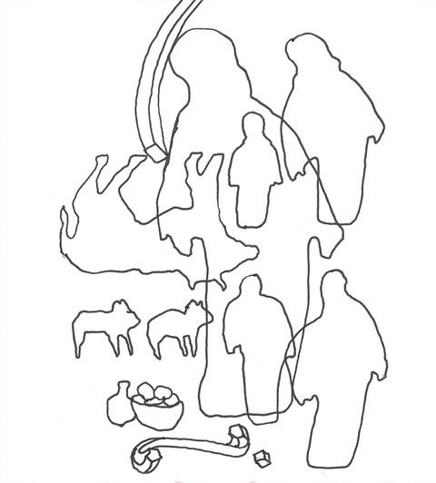 Herren sa til Moses: «Hent Aron og sønnene hans, ta presteklærne, salvingsoljen, syndofferoksen, de to værene og kurven med usyret brød. Kall sammen hele menigheten ved inngangen til telthelligdommen!» - Tredje Mosebok Kapittel 8