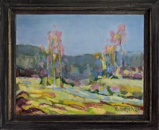 Landskap med rosa trær - Landscape with pink trees