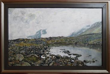 Liten dam på fjellet - Small pond in the mountain