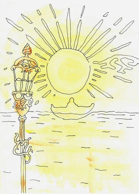 For Herren er stor og verdig lov og pris, verdt å frykte mer enn alle guder. Alle folkenes guder er avguder. Det var Herren som skapte himmelen. Høyhet og herlighet er foran ham, makt og glans på hans hellige sted. - Første Krønikebok Kapittel 16