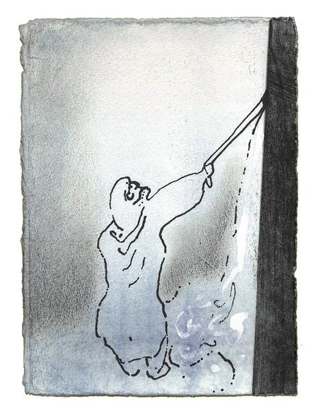 Moses tok staven som lå foran Herrens ansikt, slik han hadde pålagt ham. Han og Aron kalte forsamlingen sammen foran klippen og sa til dem: «Hør nå, dere opprørere! Tror dere vi kan få vann til å strømme ut til dere fra denne klippen?» Så løftet Moses hånden og slo to ganger på klippen med staven sin. Da fosset vannet fram, og både folket og buskapen deres drakk. - Fjerde Mosebok Kapittel 20